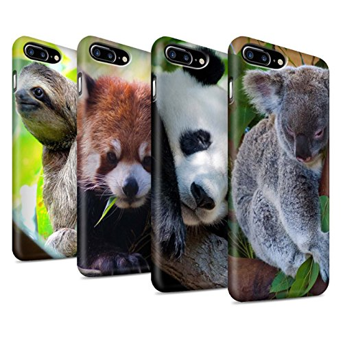 STUFF4 Glanz Snap-On Hülle / Case für Apple iPhone X/10 / Eidechse Muster / Wilde Tiere Kollektion Multipack Bären