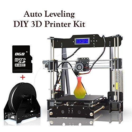 Stampante 3D Livellamento Automatico Alta Precisione Self-Assembly DIY Stampanti 3D Desktop Prusa i3 Kit con 8GB Scheda SD & 0.25 Kg Filament, Dimensione Massima di Stampa: 220 * 220 * 240 mm