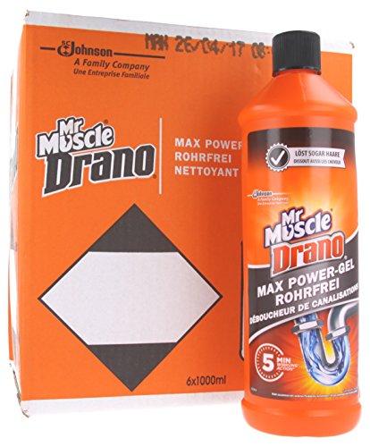 Mr Muscle Drano Power-Gel Rohrreiniger (6 x 1000 ml)