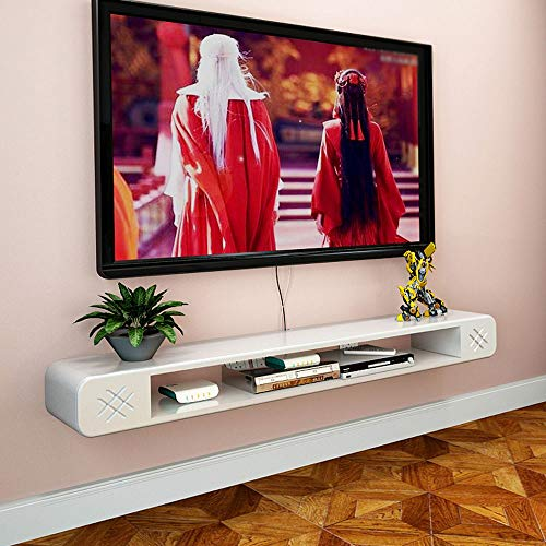 MKJYDM Wandregal Wand-TV-Schrank Regal Top-Box Kabel Box DVD-Player TV-Konsole Abstellraum Möbel TV Wanddekoration Wandhalterung Regal (Size : 120cm) - Cd-player Draht