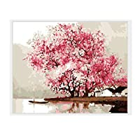 Scenery Handmade Painting DIY Canvas Paint By Number Kit Oil Painting Gift