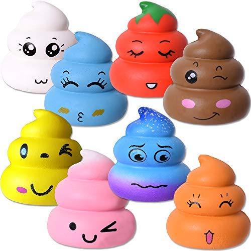 ueeze Toys Squishy Poo Haufen Quetschball Antistress Softball 7cm Emoji Emojicon Mehrfarbig ()