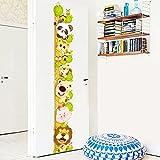 Pegatina pared medidor altura cabecitas animal para dormitorios bebes infantiles cuartos de juegos de OPEN BUY