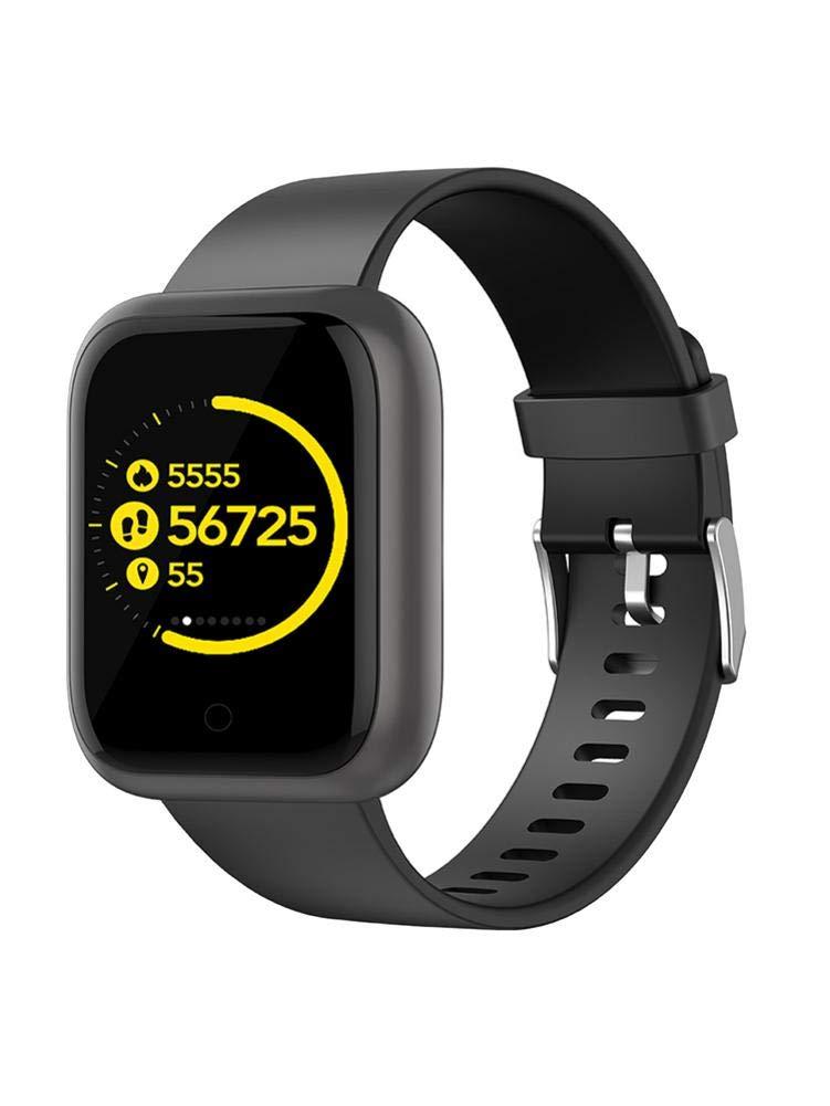Smart Fitness Tracker Watch, Monitor de frecuencia cardíaca Reloj Presión arterial Sleep Monitor Multifuncional Bluetooth Smart Watch Impermeable Vidrio templado Podómetro Pantalla de color deportivo 1