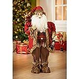 Brand New Style Christmas Decoration Giant Woodland Santa Claus 80cm