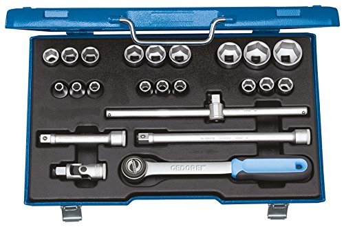 Preisvergleich Produktbild GEDORE Steckschlüssel-Satz 1/2 Zoll 23-Teilig, 6-kant 8-32 mm, 1 Stück, 19 EMU-3