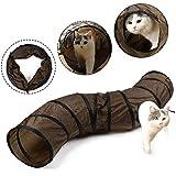 Eono Essentials Animale Domestico Gatto Tunnel Collassabile S-Forma Gattino Giocattolo Tubo per Coniglio Cucciolo Furetto