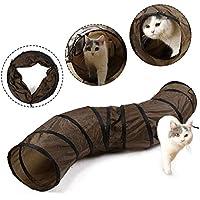 Eono Essentials Cat Tunnel Forma Plegable en Forma de S con Orificios Peek Kitten Play Toy Tube Fun para Kitty Rabbit Puppy Ferret