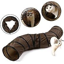 Eono Essentials Gato Túnel Forma Plegable en Forma de S con Orificios Agujeros Gatito Jugar Juguete Tubo para Kitty Conejo Perrito Hurón