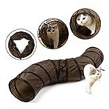 Eono Essentials Katzenspielzeug Kätzchen Tunnel Faltbarer S-förmige Weise mit 2 Höhlen Katze Spieltunnel Röhren Spaß für Hasen Kaninchen Frettchen Kleintiere Haustier