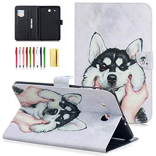 iPad Air 2Hülle littlemax (TM) [Standfuß] Flip Leder Case Folio Wallet Case Card Holder Schutzhülle für Apple iPad 6/AIR2[Gratis Reinigungstuch, Stylus Pen] (All Mad Here), 01 Night Ghost -