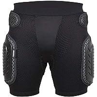 HBRT Pantalón de protección Acolchado Roller de Verano, diseño de Malla Transpirable, Protector de Engranaje Protector de Cadera Ligero para Tenis de esquí,XL