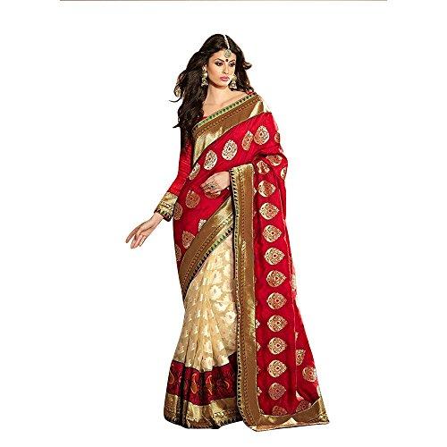 AASRI Women Wedding Cotton Brasso Bhagalpuri Silk Saree With Blouse Piece