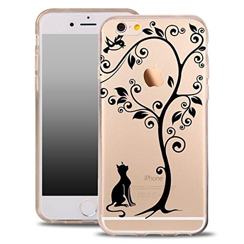 Blitz® ARTmotifs housse de protection transparent TPE SAMSUNG Galaxy blühender Baum iPhone X Katzen Baum
