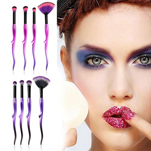 ESAILQ Kit de Pinceaux Maquillage 4pcs/set Yaksha- Brush Cosmétique Beauté & Make-up Make Up Brush Pinceau cosmétique de qualité Professionnel (A)