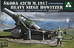 takom Tak modèle de 2018–Kit Skoda m.1917Heavy Victoires Howitzer, 42cm,