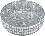 ORE Pet Erzgebirge Pet Speckle & Spot Keramik Tiefe Schüssel–Santa Fe Grau–2Tassen