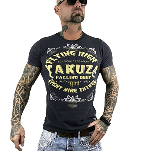 Yakuza Original Herren Flying High T-Shirt Ebony Moonwashed