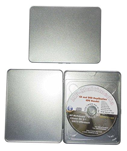 10 CD Hüllen aus Metall in Blu-Ray Format, leere Premium CD Metallboxen in A5 Blu-Ray Format für je 1 CD/DVD/Blu-Ray Rohling (Leere Blu Ray)