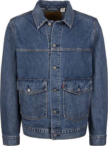 Levi's uomo patch pocket trucker jacket, blu, s