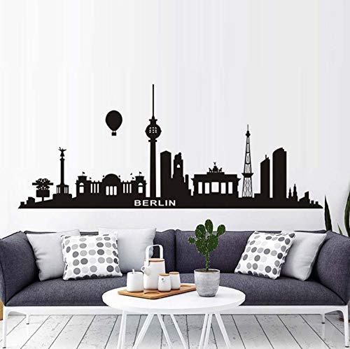 Wohnzimmer Wandaufkleber Big Black Wasserstoff Ballon Berlin City Home Decoration Diy Sofa Hintergrund Wandbild Hohe Qualität (Big City Ballons)