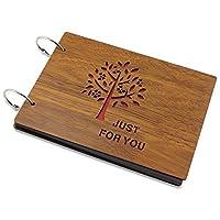 KEESIN Wood Photo Album DIY Memory Photo Travel Record Scrapbook 8 X 6 Inch (Tree)