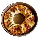 Küche liefert Fach Pizzatablett Haushalt Backofen Werkzeug Mikrowelle Westlichen Essen Nicht klebrig Backblech Kuchenform 6/8 / 11inches Pizzableche (Color : Gold, Size : 29 * 3cm/11 * 1.2inch)