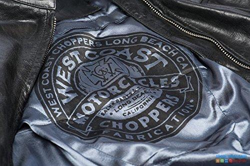 West Coast Choppers OG Cross Wool Baseball Jacket Black