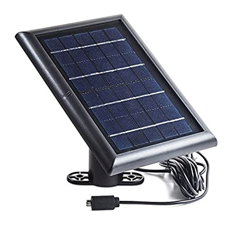 Solar Panel for Ring Stick Up Cam, Power your Ring Outdoor Camera continuously with our new Solar Charging Device – by