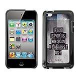 DREAMCASE Bibelzitate Bild Hart Handy Schutzhülle Schutz Schale Case Cover Etui für Apple iPod touch 4 / 4G generation - Eibe Gott fur uns ist. Wer kann wider uns sein? - Romer 8:31
