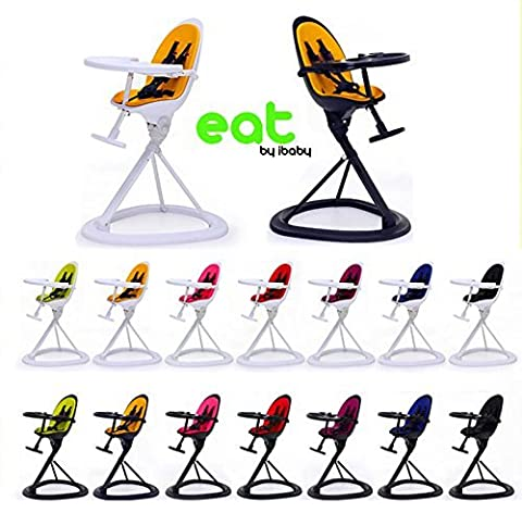 Chaise Haute Star Ibaby Eat Black & Lime