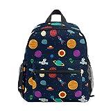 TIZORAX Exoplanet Space Rocket Telescope Lightweight Travel School Backpack for Boys Girls Kids