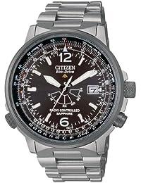 Citizen AS2031-57E - Reloj analógico de cuarzo para hombre, correa de titanio multicolor