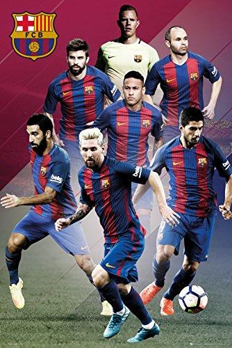 Póster FC Barcelona – Jugadores principales Temporada 2016/2017 (61cm x 91,5cm)