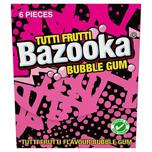 Bazooka Bubble Gum Brieftasche Packung Sgl x 12 x 1 Kinder Party Süßigkeiten (Bazooka Bazooka Bubble Gum)
