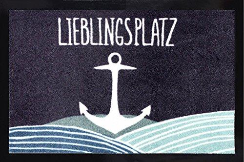 Close Up Lieblingsplatz Anker Fußmatte, Schmutzfangmatte - 60 x 40 cm - Tattoo-fußmatte