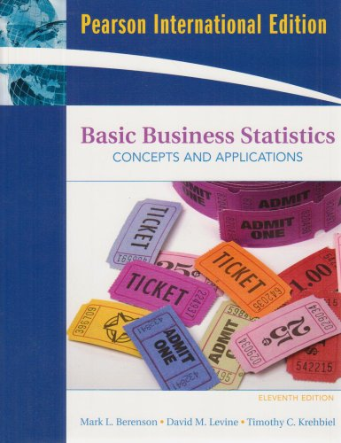 Basic Business Statistics: International Edition: Concepts and Applications