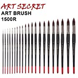 #10: 00 : high quality paint art brushes free style oil watercolor acrylic brush 1500R taklon hair long wooden handle