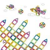 Amaza Bloques Construcción Magneticos 3d Bloques Plastico Construccion Juguetes Creativos y Educativos 88 Piezas (Multicolor)