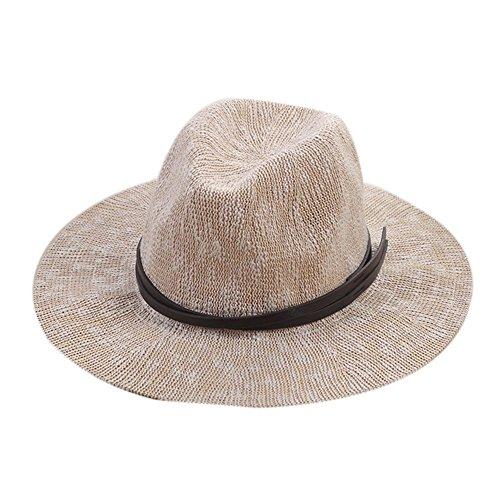 Demarkt Fashion femmes filles Wide Brim Chapeau Respirante été Voyage plage Chapeau De Soleil Gris