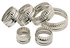 Kitchen Craft Pastry Cutter / Biscuit Cutter, Stainless Steel Double Edged, Set of 6