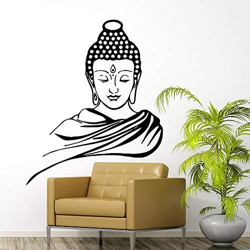 Buddha Vinyl Wandaufkleber Dekoration Aufkleber Wohnzimmer Schlafzimmer Removable Home Decoration Zubehör Wandtattoos 58 * 70 cm