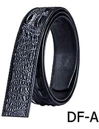 Correa de cinturón de cuero Sin hebilla Cinturones de cuero genuino Traje  Cinturón Hebilla automática Cinturón para… 8fd9ae967173