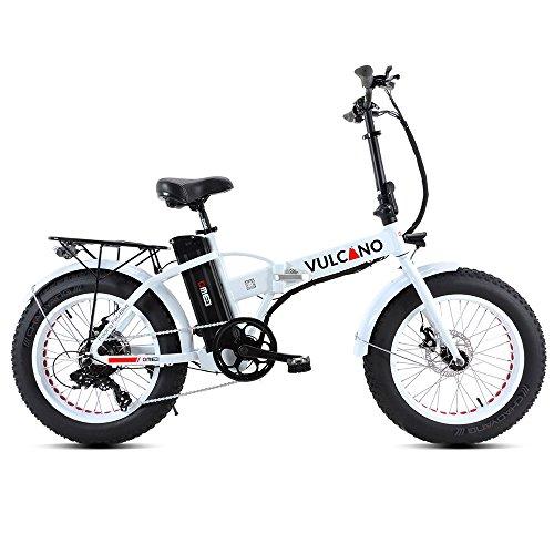 """Fat-Bike Bicicletta Elettrica Pieghevole a Pedalata Assistita 20"""" 500W DME Bike V2.4 Vulcano Bianca"""