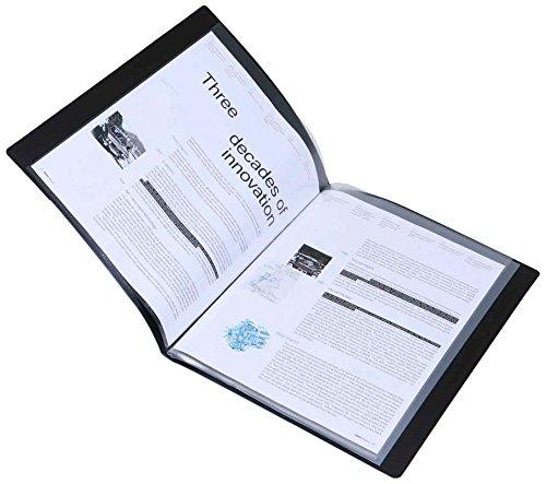 Rapesco PVDA410B Sichtbuch DIN A4, mehrfach Anzeige, 10 Hüllen, schwarz
