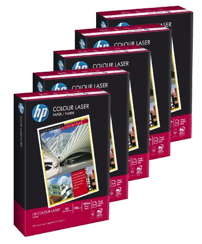 Hewlett Packard 10100163 Colour Laser Kopierpapier CHP350, DIN A4, Papierstärke 100 g/qm, 5 x 500 Blatt, hochweiß - Inkjet-laser-drucker Hp