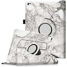 Fintie iPad Air 2 Funda - Giratoria 360 grados Smart Case Funda Carcasa con Función y Auto-Sueño / Estela para Apple iPad Air 2 (iPad 6th Generación 2014 Versión) 9.7 Inch iOS Tableta, Marble