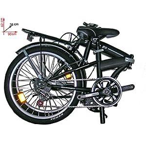 "Frejus Dp1X20106 Bicicleta 20"" Plegable, Unisex, Negro"