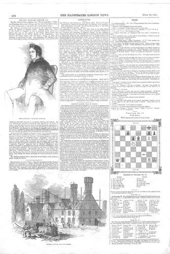 Schach Schach-Problem *76, Barton-Insel Von Wight 1845