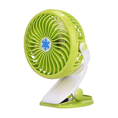 YEARNLY Clip Mini-Ventilator • Hochwertiger Tischventilator Stark & Leise für Büro, Zuhause, Schreibtisch • 360 ° Drehung